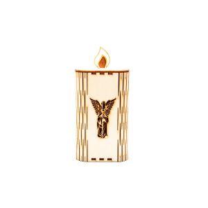 Lesena sveča - angel (velika)