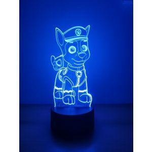 Nočna lučka LED 3D - tačke na patrulji